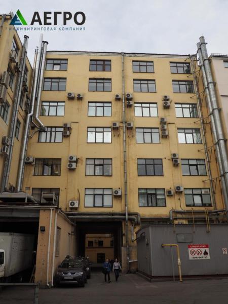 Обследование фасадов с внутридворовой стороны здания
